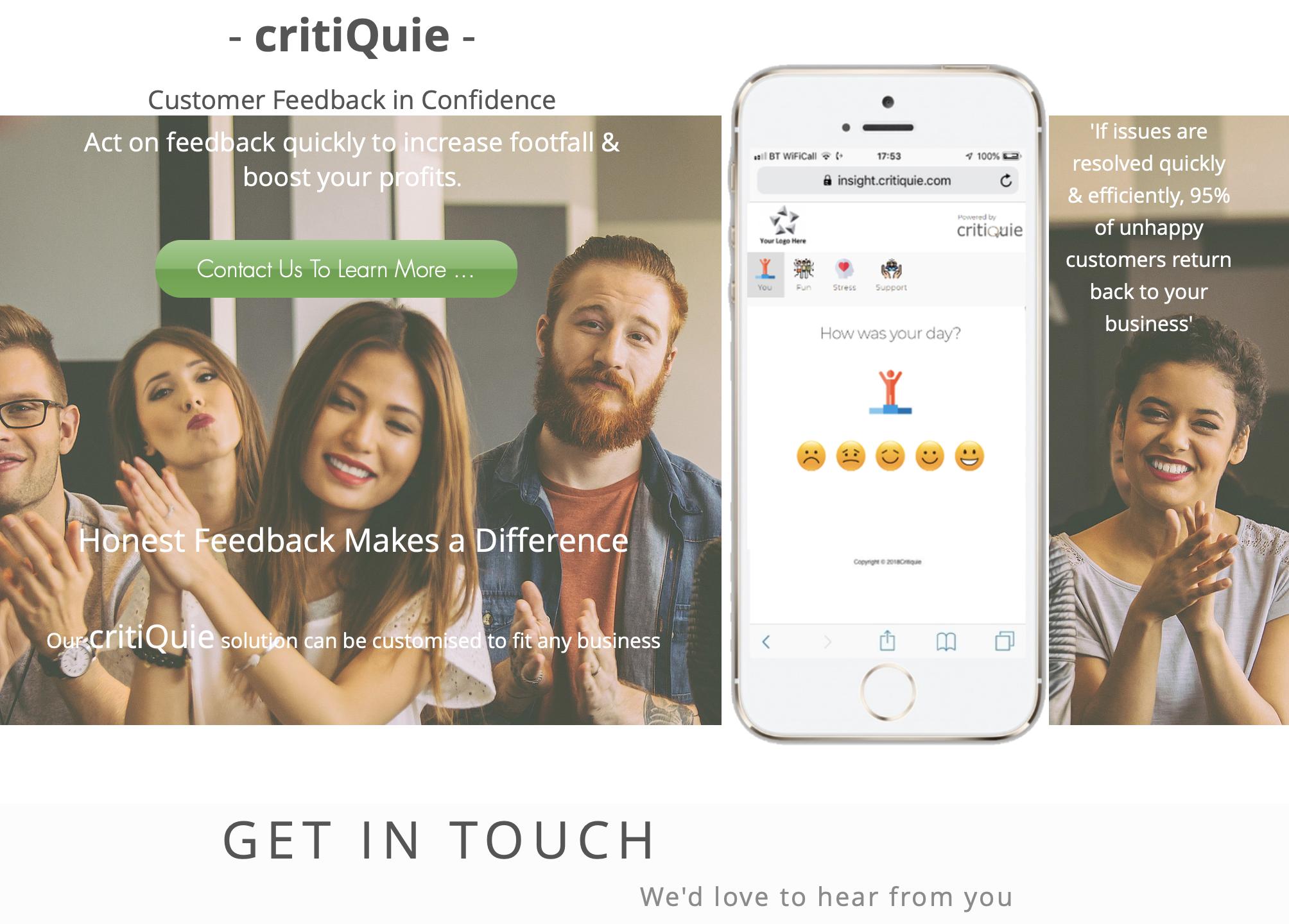 Customer Profile: Critiquie